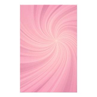 Pink spiral stationery