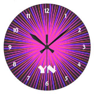 Pink Spirit Circle custom Large Clock