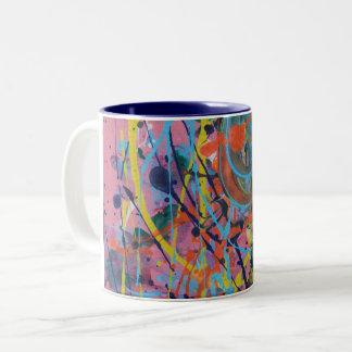 Pink Splat Painting Mug