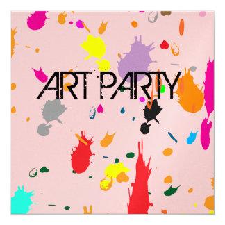 Pink Splatter Invitation
