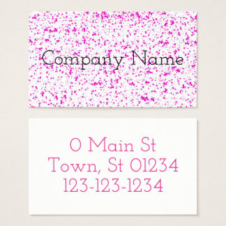 Pink Spotted Business Cards