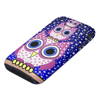 pink spotted owls iPhone 3 tough covers