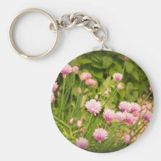 Pink Spring Alliums Key Ring