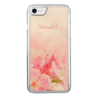 Pink Spring Apple Blossoms Carved iPhone 8/7 Case