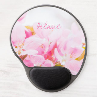 Pink Spring Apple Blossoms Gel Mouse Pad