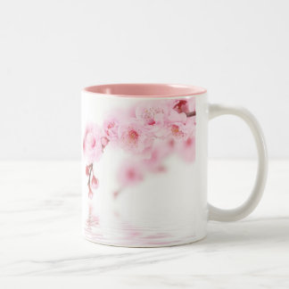 Pink Spring Blossom Chinese Wedding Save The Date Two-Tone Coffee Mug