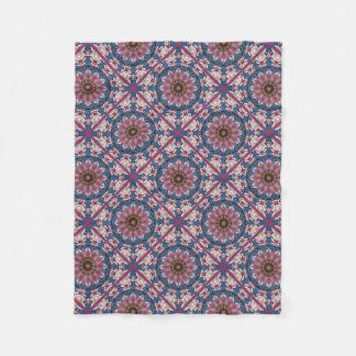 Pink spring blossoms 0.1.b, Nature Mandala Fleece Blanket