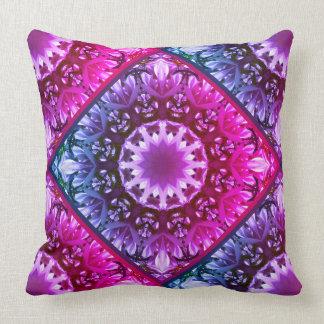 Pink spring blossoms 1.1.3.F, mandala style Cushion