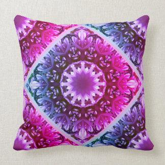 Pink spring blossoms 1.2.3.F, mandala style Cushion