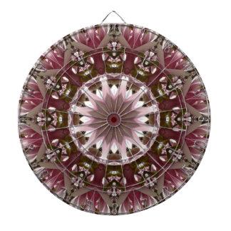Pink spring blossoms 1.3, floral mandala style dartboard