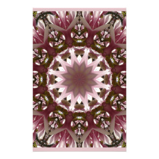 Pink spring blossoms 1.3, floral mandala style stationery