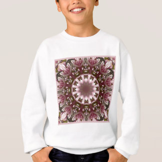 Pink spring blossoms 1.3, floral mandala style sweatshirt