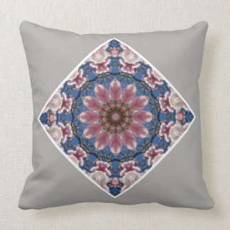 Pink spring blossoms 2.2.02.6, Nature Mandala Cushion
