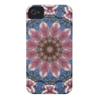 Pink spring blossoms 2.2.2, Nature Mandala Case-Mate iPhone 4 Case