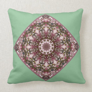 Pink spring blossoms 2.5.5.5, Nature Mandala Cushion