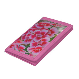 Pink spring blossoms tri-fold wallet
