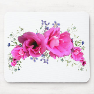 Pink Spring Flower Spray Mouse Pads