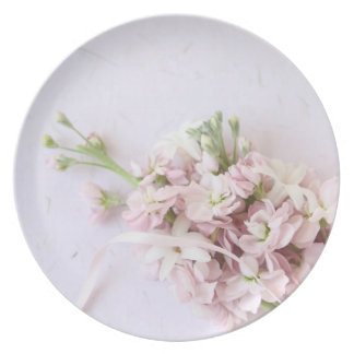 Pink spring flowers plates
