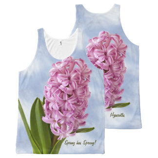 Pink Spring Hyacinths Floral Photography All-Over Print Singlet