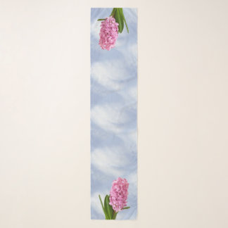 Pink Spring Hyacinths Floral Photography Scarf