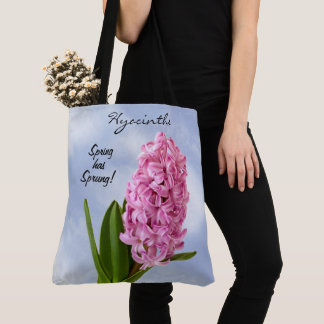 Pink Spring Hyacinths Floral Photography Tote Bag