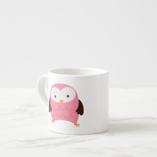 Pink Spring Owl Espresso Cup