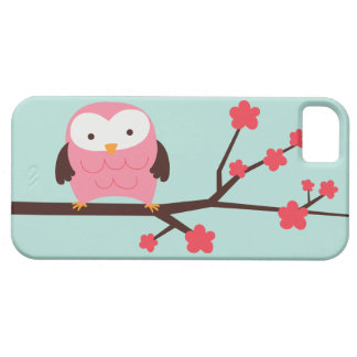Pink Spring Owl iPhone 5 Cases