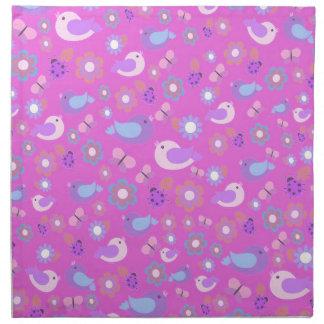 Pink spring pattern napkin
