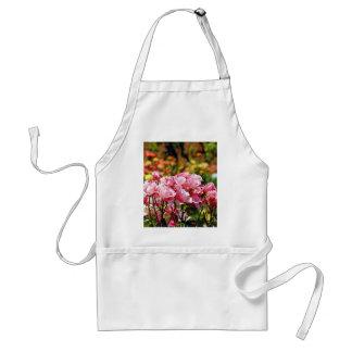 Pink spring rose garden print apron