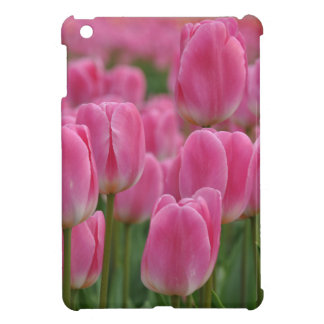 Pink spring tulips cover for the iPad mini