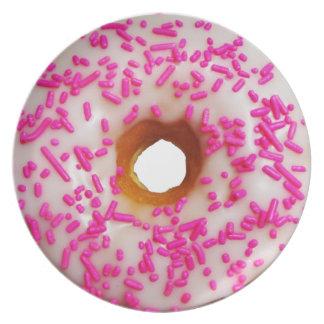 Pink Sprinkles Donuts Plate