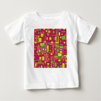 Pink square background baby T-Shirt