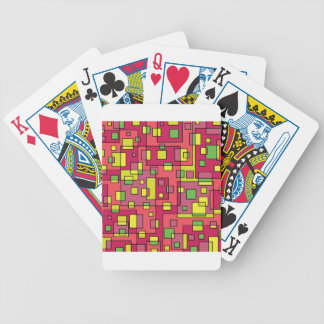 Pink square background bicycle playing cards