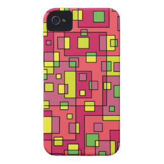 Pink square-background Case-Mate iPhone 4 cases