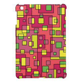 Pink square background iPad mini cases
