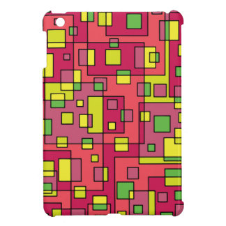 Pink square background iPad mini cover