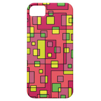 Pink square background iPhone 5 case