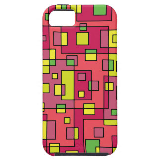 Pink square-background iPhone 5 cover