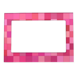 Pink Square Mosaic Magnetic Frame