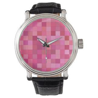 Pink Square Mosaic Watch