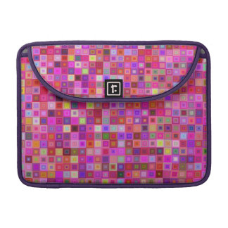 Pink square tiles sleeve for MacBook pro