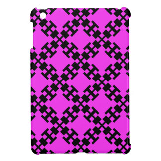 Pink  squares and squares case for the iPad mini