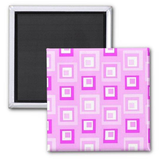 Pink squares magnet