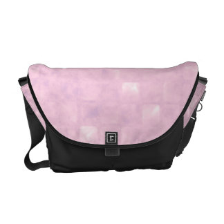 Pink Squares Pattern Courier Bags