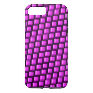 Pink Squares Tough iPhone 7 Plus Case