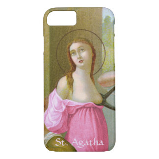 Pink St. Agatha  (M 003) Barely There iPhone 8/7 Case