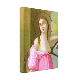 Pink St. Agatha (M 003) Canvas Print