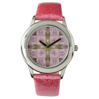 Pink Stamps Wristwatch