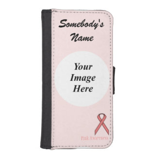 Pink Standard Ribbon by Kenneth Yoncich iPhone SE/5/5s Wallet Case