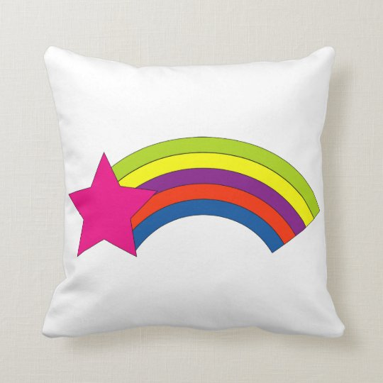 Pink Star and Rainbow Cushion